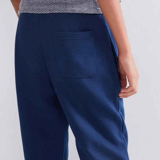 Mesh Panel Detail Jog Pants with Drawstring