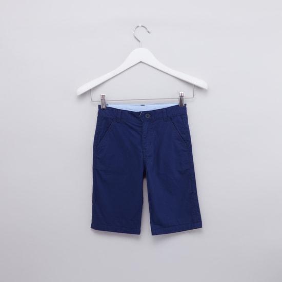 Printed Shirt with Pocket Detail Shorts