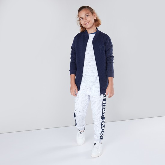 Side Panelled Joggers with Pockets and Elasticated Waistband