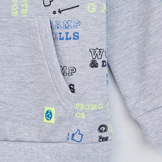 Printed Tape Detail Sweatshirt