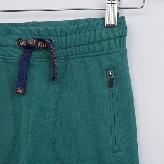 Printed Jog Pants with Pocket Detail and Drawstring