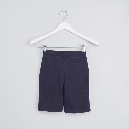 Avergers Applique Detail Knitted Shorts with Drawstring