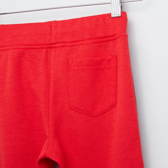 Side Tape Detail Jog Pants with Drawstring