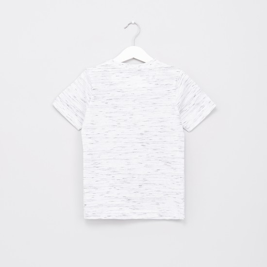 Space Dyed Henley Neck T-Shirt