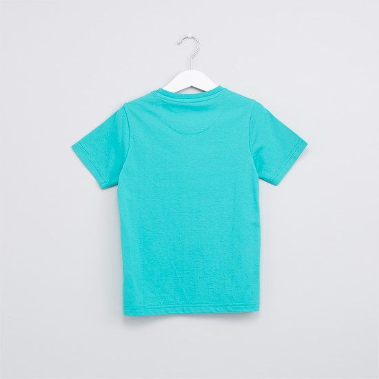 Graphic Printed T-Shirt with Short Sleeves