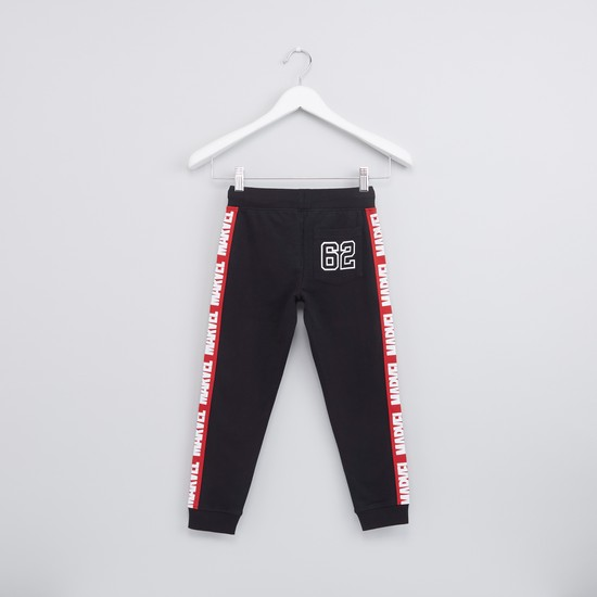 Spider-Man Printed Jog Pants with Drawstring and Side Tape Detail
