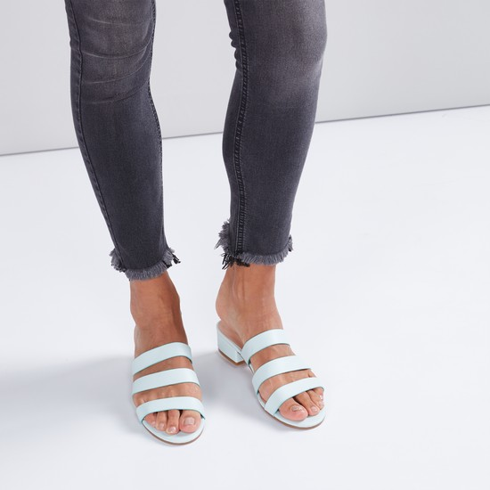 Multi-Strap Block Heel Sandals