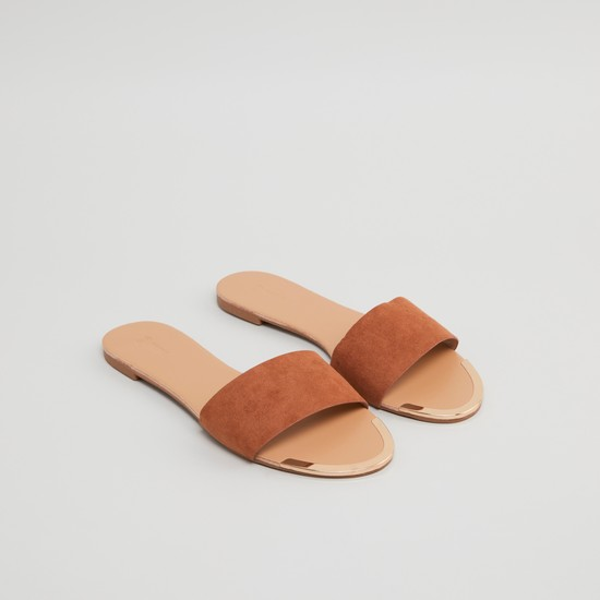 Plain Slides with Broad Strap