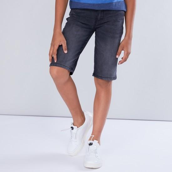 Distressed Shorts with Pocket Detail