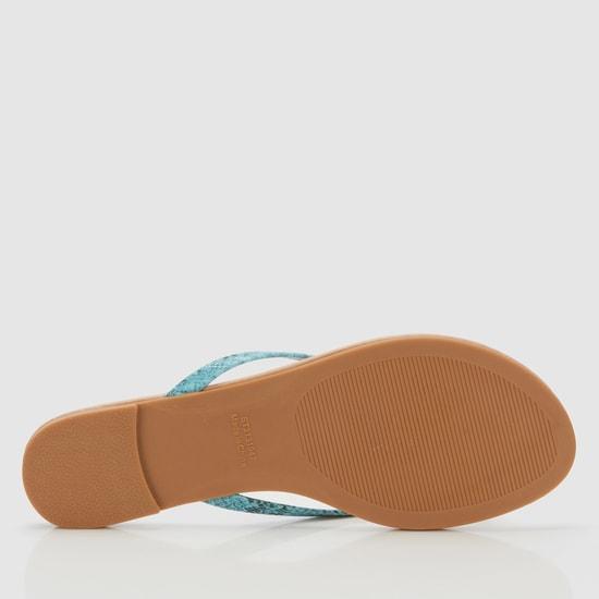 Textured Flat Thong Sandals