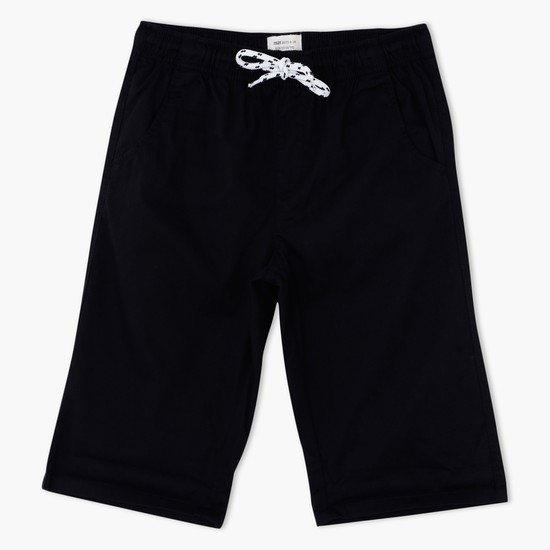 Shorts with Contrasting Drawstring