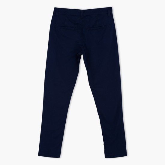 Full Length Pants with Button Closure