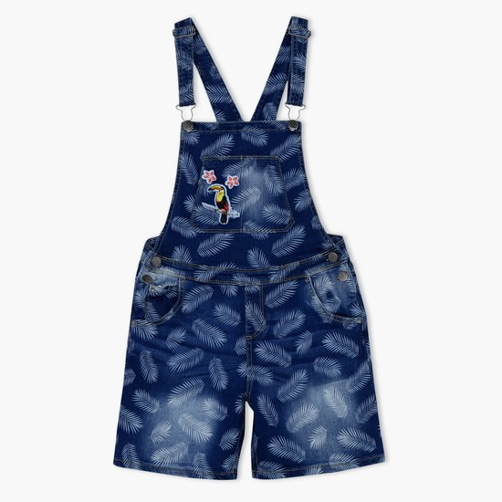 Printed Dungaree with Pocket Detail