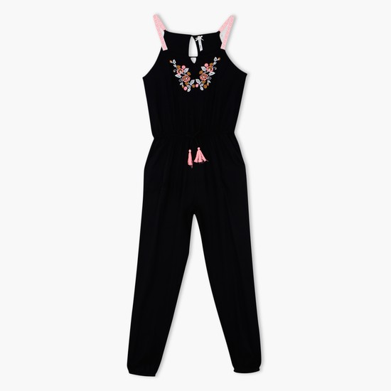Embroidered Full Length Jumpsuit