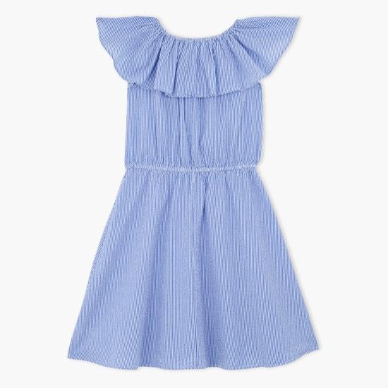Elasticised Waistband Embroidered Dress