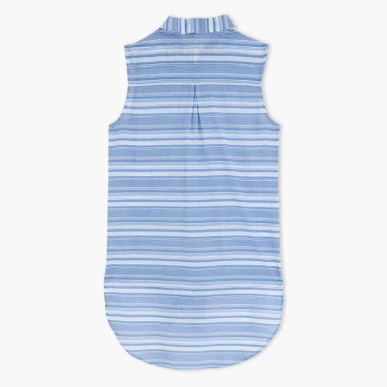 Printed Sleeveless Shirt
