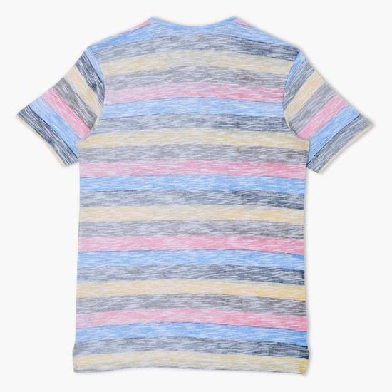 Striped Henley Neck T-Shirt