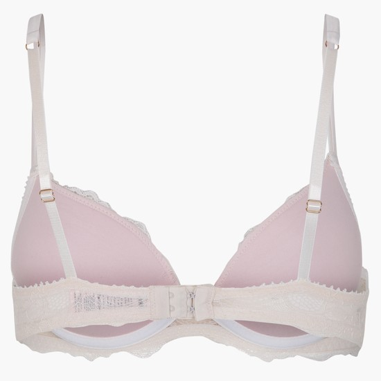 Padded Lace Bra with Buckle Closure