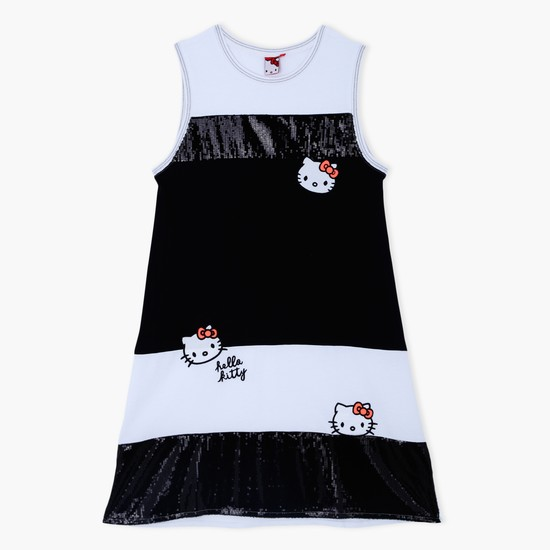Hello Kitty Printed Round Neck Dress