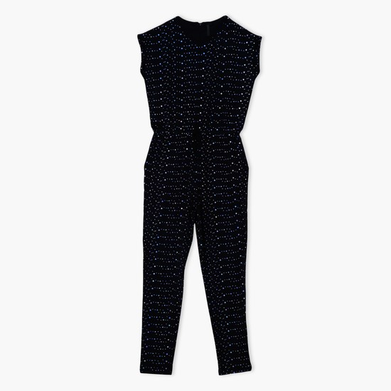 Round Neck Printed Jumpsuit