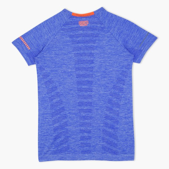 Textured Short Sleeves T-Shirt