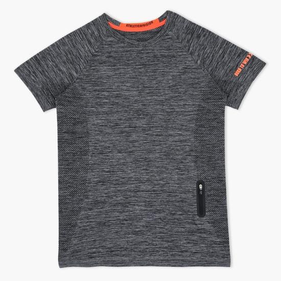 Melange Printed Short Sleeves T-Shirt