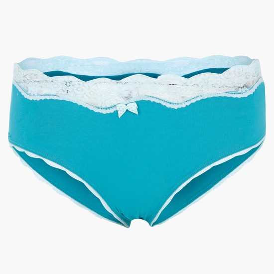 Lace Briefs with Elasticised Waistband