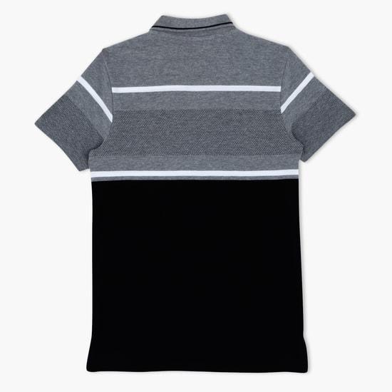 Printed Polo Neck T-Shirt