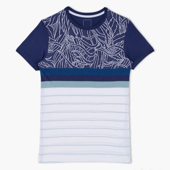 Jacquard Printed Round Neck T-Shirt