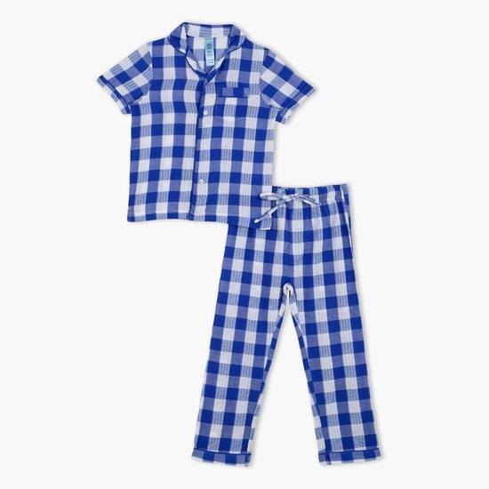 Chequered Shirt and Pyjama Set