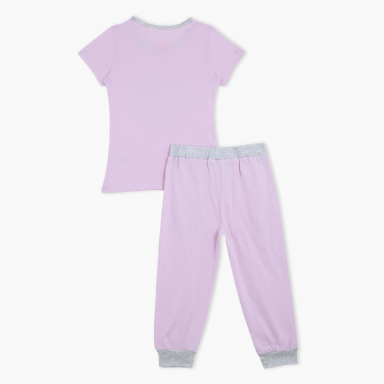 Printed T-Shirt and Pyjama - Set of 2