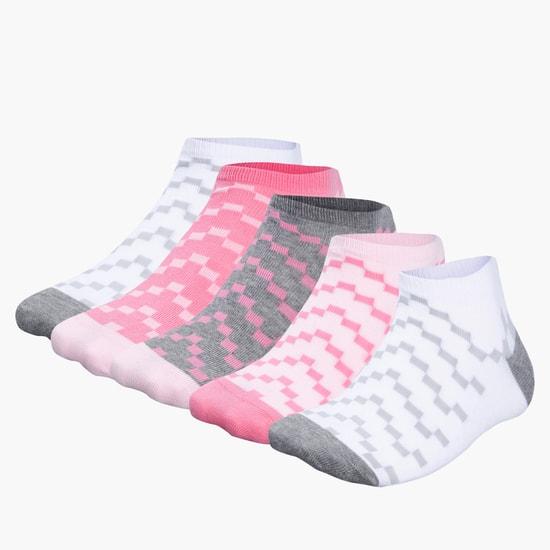 Printed Ankle Socks - Set of 5
