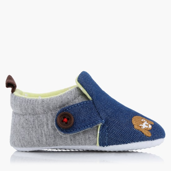 Embroidered Slip On Booties
