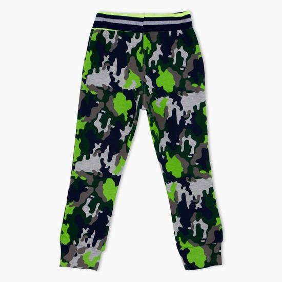 Ben 10 Printed Full Length Pants with Elasticised Waistband
