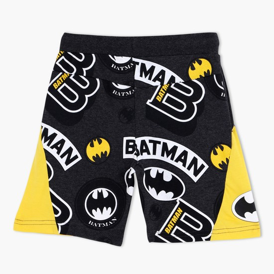 Batman Printed Shorts with Drawstrings