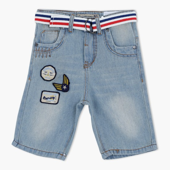 Knee Lenght Shorts with Button Closure