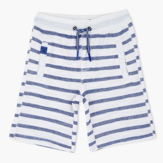 Striped Shorts with Drawstring
