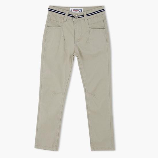 Full Length Pants with Mock Belt