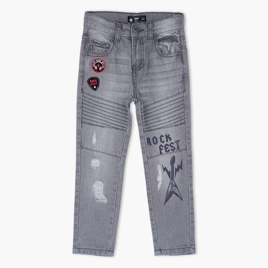 Printed Full Length Jeans