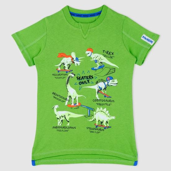 Printed Short Sleeves Crew Neck T-Shirt