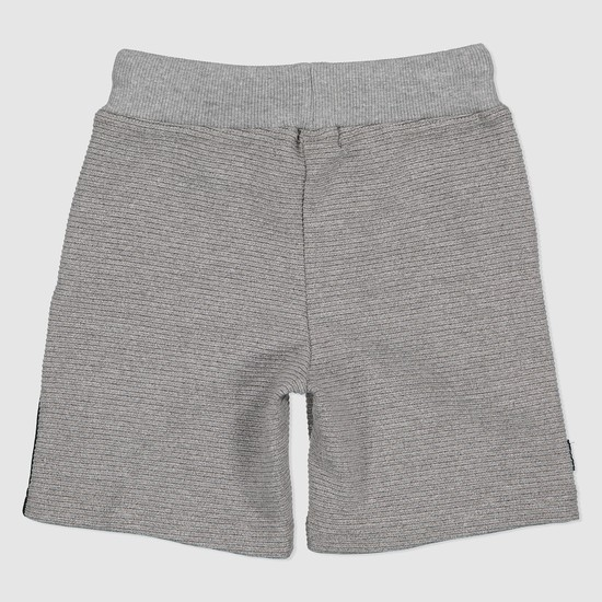 Knit Shorts with Contrasting Side Panels