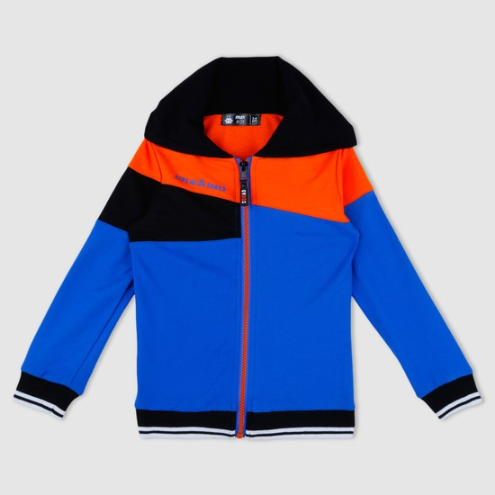 Long Sleeves Panelled Jacket with Hood
