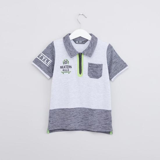 Printed Polo Neck Short Sleeves T-Shirt