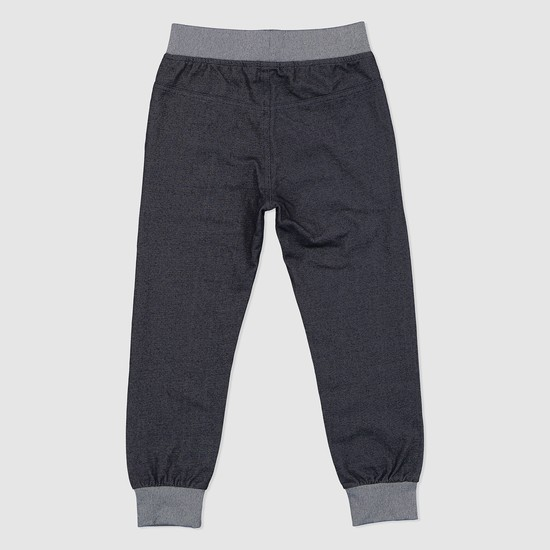 Textured Jog Pants with Elasticised Waistband and Drawstring