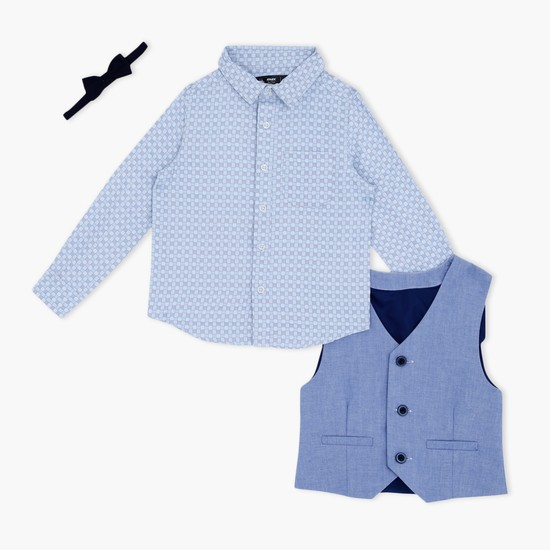 Long Sleeves Shirt and Waistcoat Set
