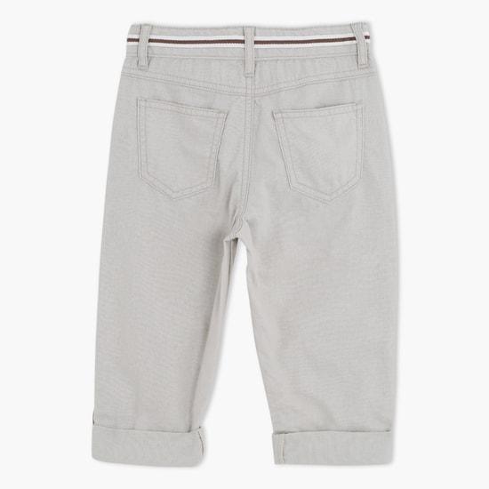 بنطال جينز بطول كامل بزر للإغلاق
