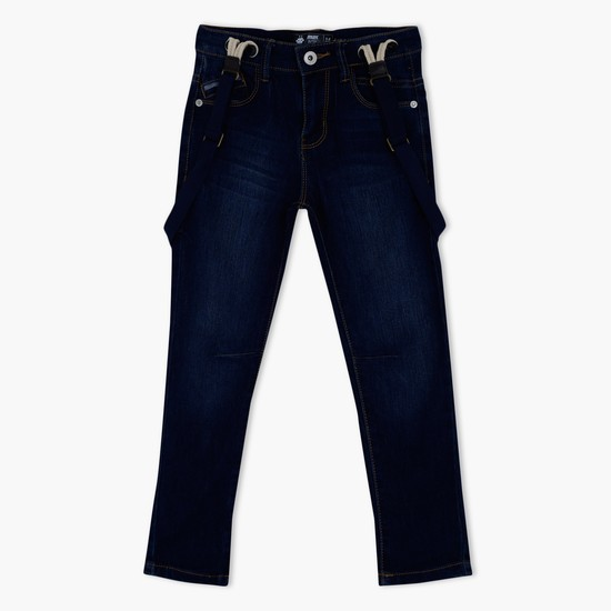 Full Length Jeans with Suspenders