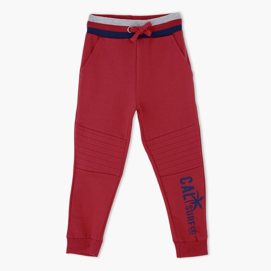Knitted Jog Pants with Ribbed Waistband and Cuffs