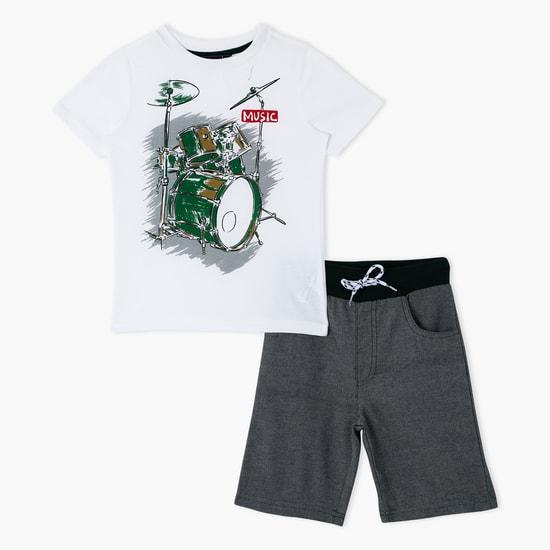 Printed T-Shirt and Shorts Set