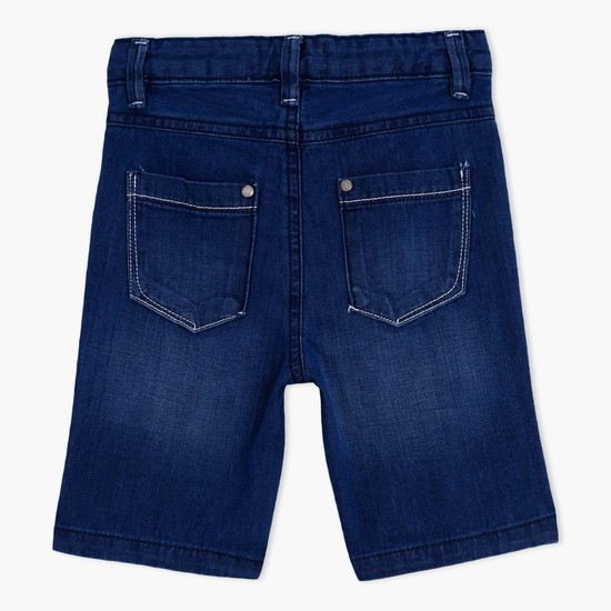 Denim Shorts with Button Closure